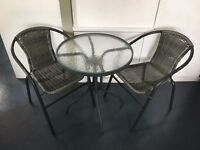 Dark Grey Outdoor Table & Chairs Set