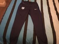 Nike england training pants size medium