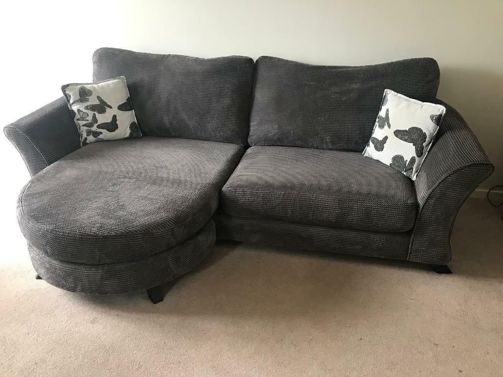 sold dfs 4 seater lounger sofa settee and large swivel chair
