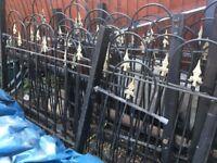 Metal fence fencing Gate Gates Rail Railing Railings over 16m