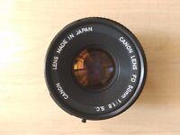 Canon lense FD 50 mm 1:1.8 SC