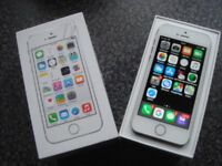 APPLE IPHONE 5S , 16GB , WHITE & SILVER, BOXED ,