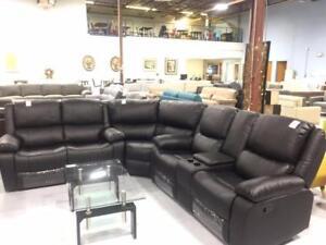 Big Corner Leather Reclining Sofa *ifurniture  sale -- - $1577