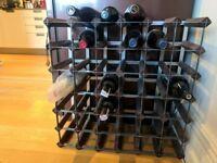42 Bottle Wine Rack- dark wood