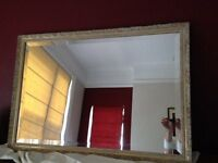 Ornate Shabby Chic Bevelled Mirror - Rectangular - mirror has no scratches in fab condition