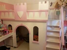 Beautiful castle bed