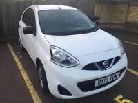 2015 FROST WHITE NISSAN MICRA 5dr MANUAL. ONLY 2k MILES. QUICK SALE BARGAIN