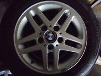 "15"" genuine bmw Alloys Wheels 3 1 Series Vw T5 5x120"