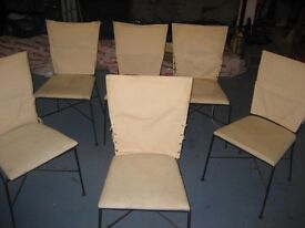 'Tent' style wrought iron dinning chairs