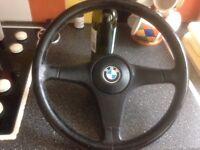 BMW E30 leather steering wheel