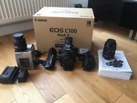 Canon EOS C100 Mark II Cinema EOS Camera with Dual Pixel CMOS AF & Extras
