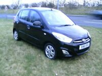 hyundai i10 active 1248cc 20 pound tax 12 months black mot 10 novenber 2017 5 speed cd ew pas