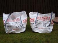 2 x EMPTY Aggregates Bulk Bags