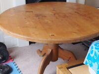 4ft round pine dining table