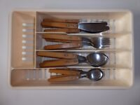 IKEA CUTLERY SET IN TRAY