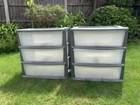Two Storage Units with three pull out drawers