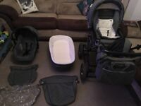 3 in 1 Pram - cosy toes - covers - bag and rain covers