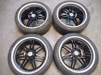 "HONDA CIVIC TYPE R S, ACCORD, CR-V, FR-V, S2000, STREAM 18"" ALLOY WHEELS"