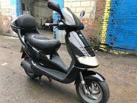 PIAGGIO SKIPPER NOT VESPA 125cc jet black 2005 low mileage hpi clear!!
