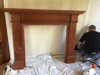 WOODEN FIRE SURROUND EXCELLENT CONDITION
