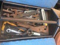 Metal Tool Box of tools