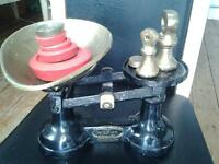 Vintage The Viking scales- Wolverhampton with bowl and weights