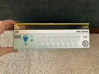 8 x DIALL LIGHTBULBS GU10 345 LUMENS 50W 345lm