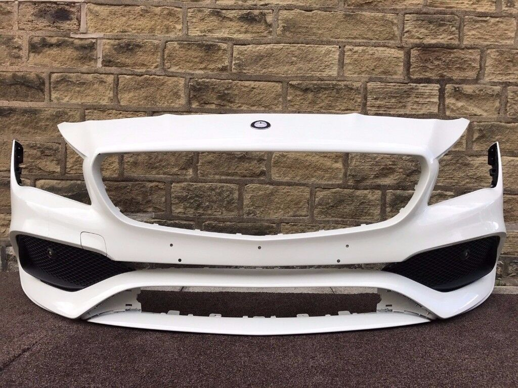 2016 MERCEDES CLA AMG W117 - FRONT BUMPER in WHITE inc Lower Grills - Good Cond