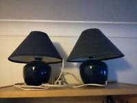 2 bedside lamps for sale (incl. light bulbs)