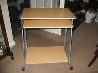 Computer Table in light oak