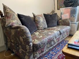 DFS 3 seater sofa and cuddle chair. Collection only.