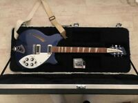 Rickenbacker 360 Midnight Blue +Rickenbacker Hardcase +Strap & Strap Locks
