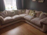Luxurious, plush, large, scatter back, fabric corner sofa RRP £1450