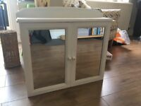 Painted solid wood bathroom cabinet