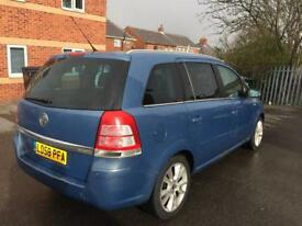 58 reg VAUXHALL ZAFIRA 1.9 CDTI AUTOMATIC 6 SPEED ELITE