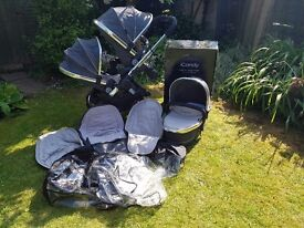 iCandy Peach Blossom 3 tandem buggy and accessories - great condition!
