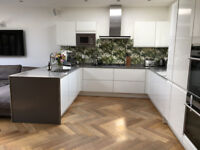 White Fitted Kitchen and Appliances for Sale