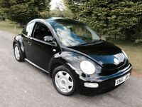 VOLKSWAGEN BEETLE 2002 (51) 2 OWNERS 1 YRS MOT DRIVES GREAT BARGAIN CAR!!!
