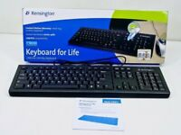 BRAND NEW in BOX -- HIGH QUALITY *Kensington* USB Black Computer PC Keyboard
