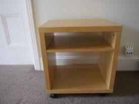 Ikea small side table on wheels