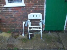 shower chair and hand raly need been used