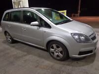2007 top spec 7 seater vauxhall zafira 1.6 runs+drives well needs some attention DRIVEAWAY
