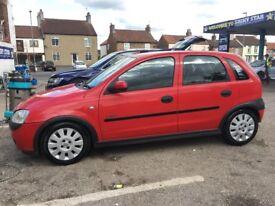 Vauxhall Corsa Red *First Car* MOT MARCH 2019