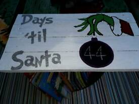 Hand made christmas signs