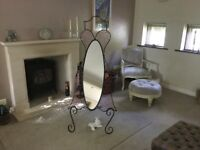 Unique free standing mirror