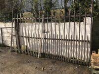 11 foot Georgian cast iron gates
