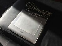 WACOM TABLET 6x8 GRAPHIRE4 MEDIUM CTE-640 640S DRAWING SILVER USB