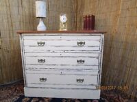 Beautiful French Distressed Shabby Chic Chest Of 3 Drawers.. Seller Refurbished.