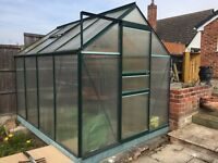 FREE Greenhouse Frame - suitable for plastic windows, not glass. Some windows intact