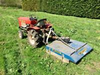 Yamnar YM1301 tractor new topper, roller transport box, chain arrows, nose weights
